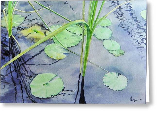 Reflecting Water Greeting Cards - Marsh Reflections Greeting Card by Michael Degnon