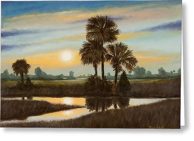 Rick Mckinney Greeting Cards - Marsh Sunset Greeting Card by Rick McKinney