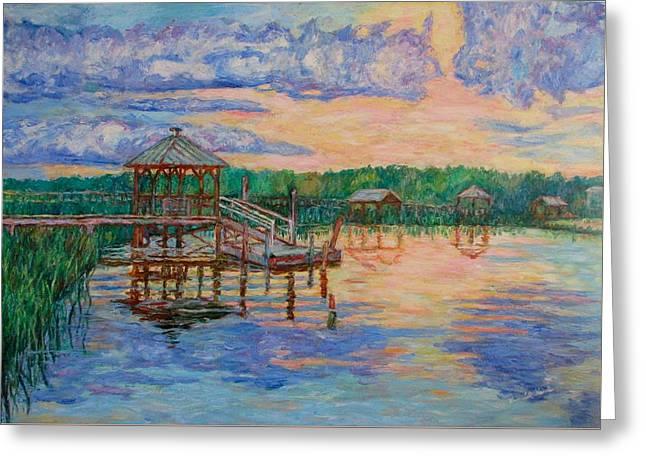 Marsh View At Pawleys Island Greeting Card by Kendall Kessler