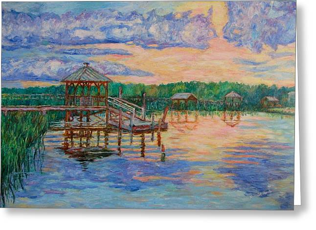Marsh View at Pawleys Island Greeting Card by Kendall Kessler