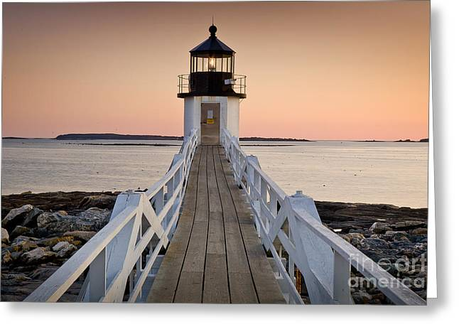 Mid-coast Maine Greeting Cards - Marshal Point Glow Greeting Card by Susan Cole Kelly
