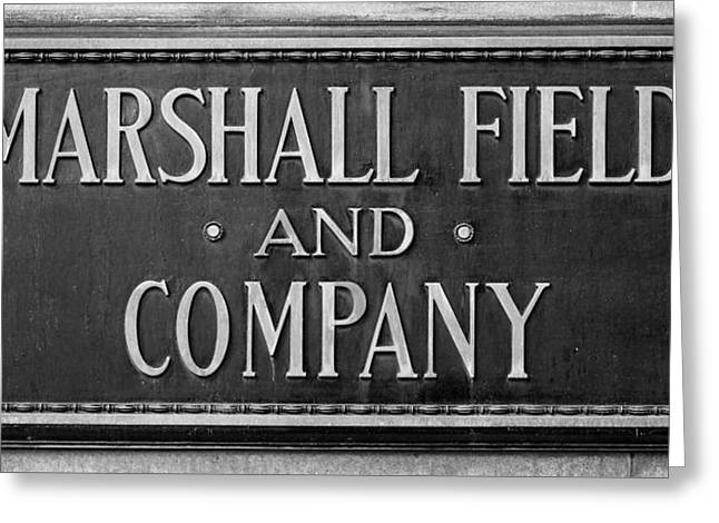 Plaque Greeting Cards - Marshall Field Plaque Greeting Card by Steve Gadomski