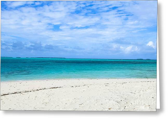 Abstract Beach Landscape Greeting Cards - Marshall Islands Greeting Card by Andrea Anderegg