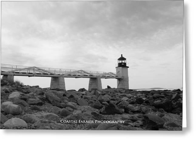 Coastal Maine Greeting Cards - Marshall Point Greeting Card by Becca Brann
