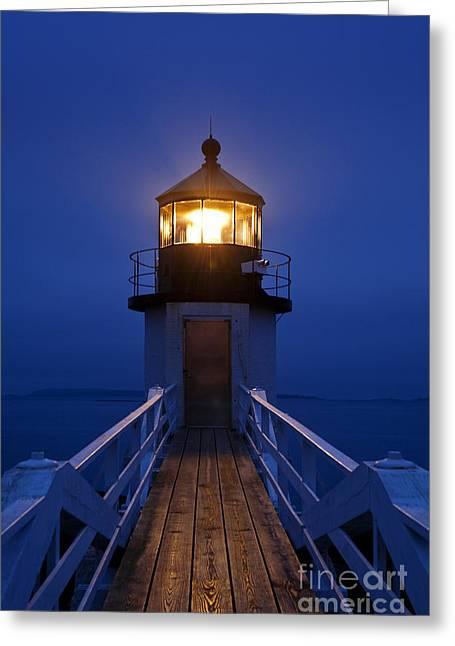 Coastal Maine Greeting Cards - Marshall Point Light Station Greeting Card by John Greim