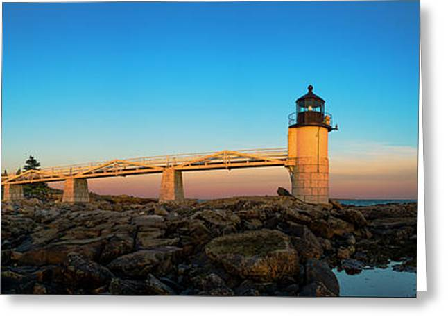 Marshall Point Lighthouse Greeting Card by Diane Diederich