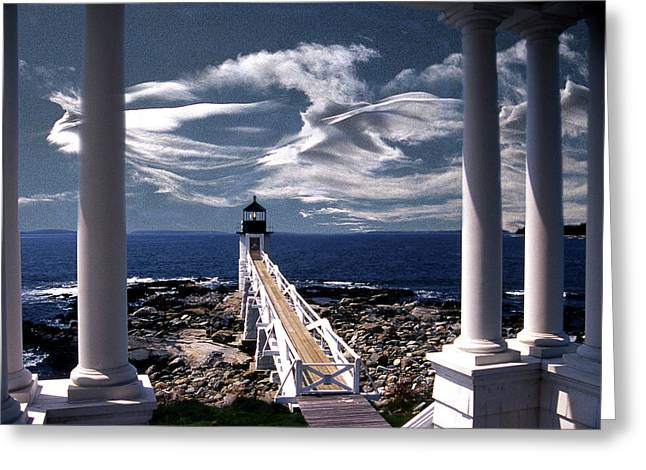 Photos Of Lighthouses Greeting Cards - Marshall Point Lighthouse Maine Greeting Card by Skip Willits
