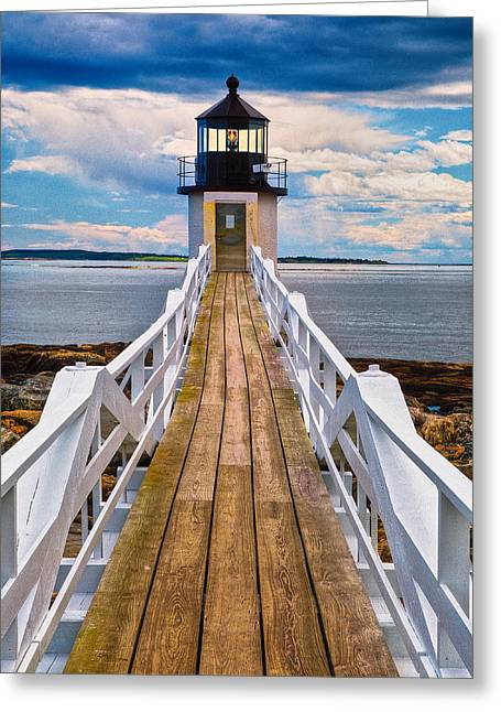 New England Lighthouse Greeting Cards - Marshall Point Lt. Greeting Card by Fred LeBlanc