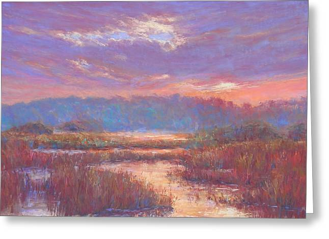 Violet Blue Greeting Cards - Marshland Mood Greeting Card by Michael Camp