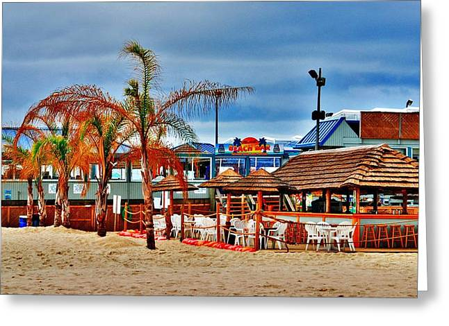 On The Beach Greeting Cards - Martells On The Beach - Jersey Shore Greeting Card by Angie Tirado