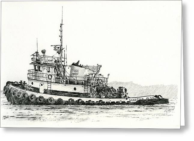 Maritime Print Greeting Cards - MARTHA FOSS Near Shore Greeting Card by James Williamson