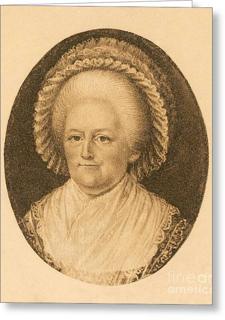 Recently Sold -  - First-lady Greeting Cards - Martha Washington, American Patriot Greeting Card by Photo Researchers