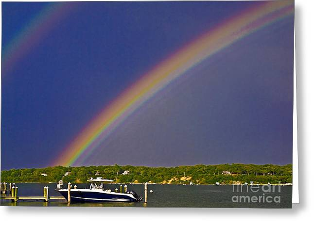 Boats At Dock Greeting Cards - Marthas Vineyard MAR017 Greeting Card by Howard Stapleton