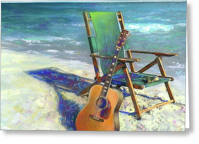 . Music Greeting Cards - Martin Goes to the Beach Greeting Card by Andrew King