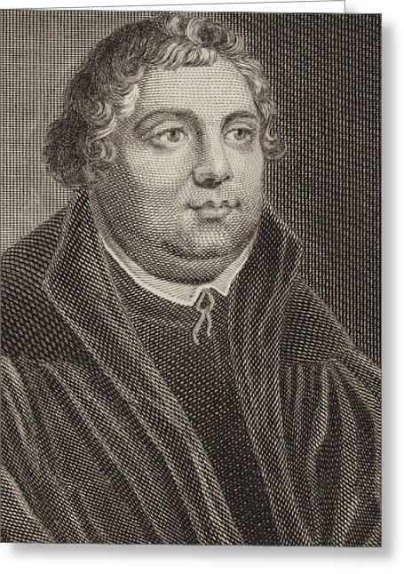 Reform Greeting Cards - Martin Luther Greeting Card by English School