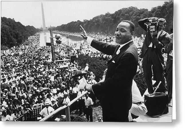 Civil Rights Movement Greeting Cards - Martin Luther King Greeting Card by American School
