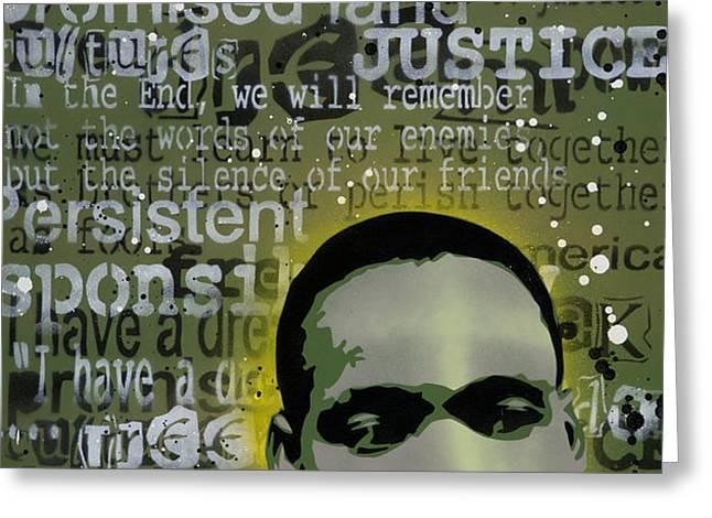Martin Luther King Greeting Card by Iosua Tai Taeoalii
