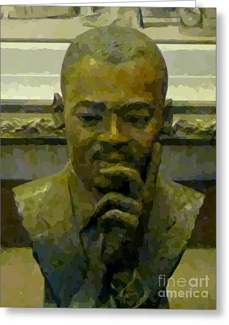Martin Luther King Greeting Card by John Malone