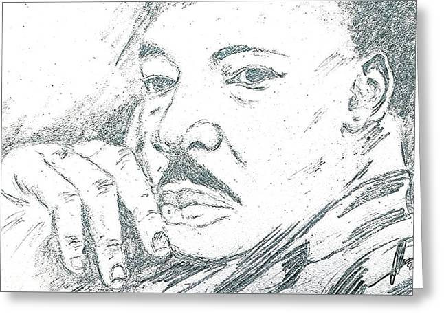 Martin Luther King Jr  Greeting Card by Collin A Clarke