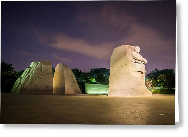 Civil Rights Greeting Cards - Martin Luther King Jr. Memorial Greeting Card by Chris Bordeleau