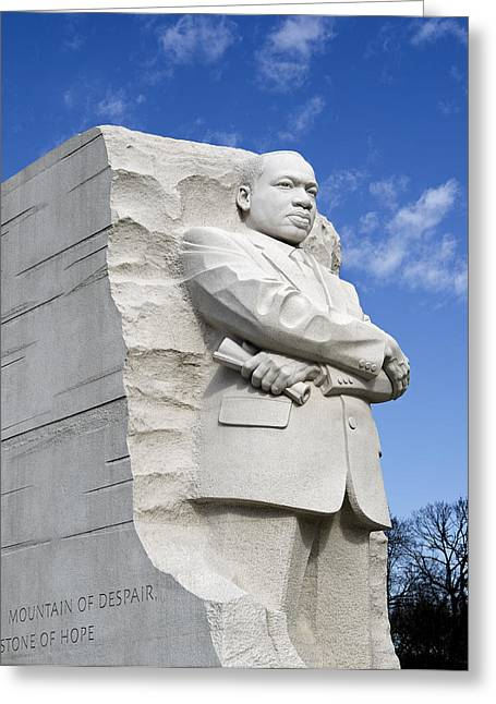 Martin Luther King Jr Memorial In Washington Dc Greeting Card by Brendan Reals