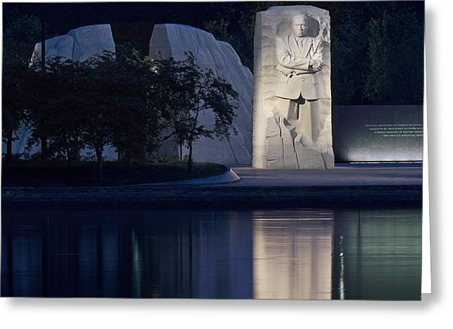 Martin Luther King Jr Memorial Overlooking the Tidal Basin - Washington DC Greeting Card by Brendan Reals
