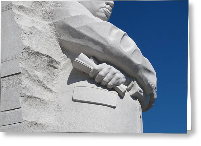 Civil Rights Greeting Cards - Martin Luther King Jr. Memorial - Washington DC Greeting Card by Anne Quinn