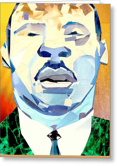 Liberal Greeting Cards - Martin Luther King Jr Greeting Card by Paul Frederick Bush