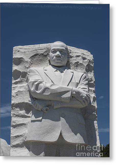 Civil Rights Greeting Cards - Martin Luther King Memorial Greeting Card by David Bearden