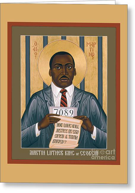 Martin Luther King Of Georgia  - Rlmlk Greeting Card by Br Robert Lentz OFM