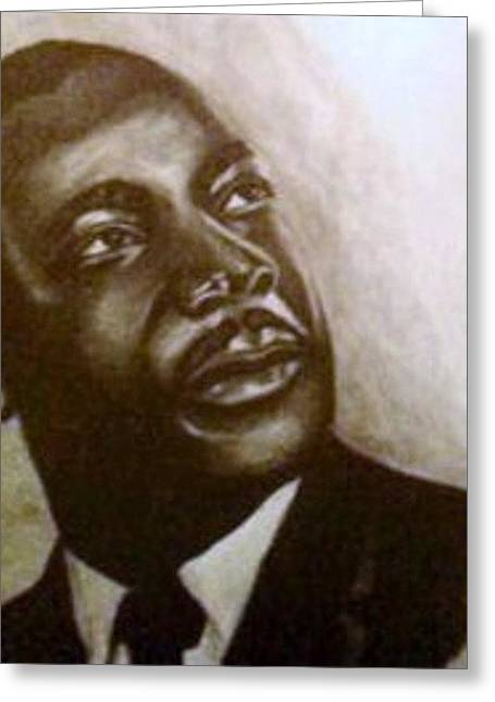 Martin Luther King Greeting Card by Pauline Murphy