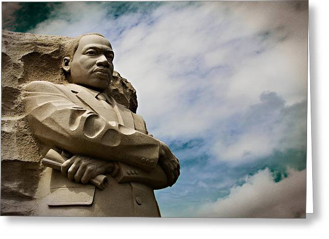 Civil Rights Greeting Cards - Martin Luther King Greeting Card by Petrice Henley