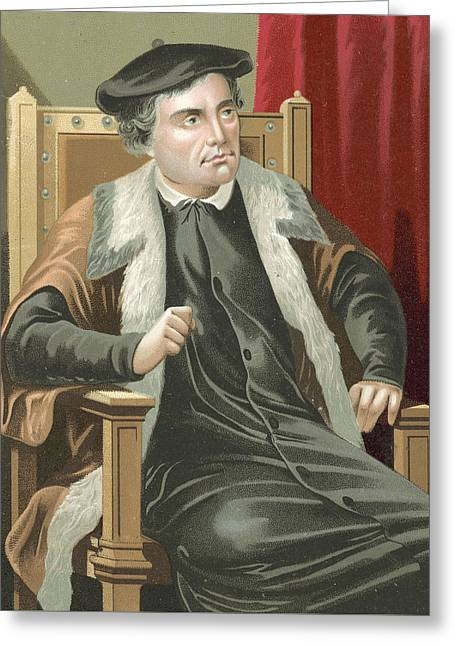 Martin Luther Greeting Card by Spanish School