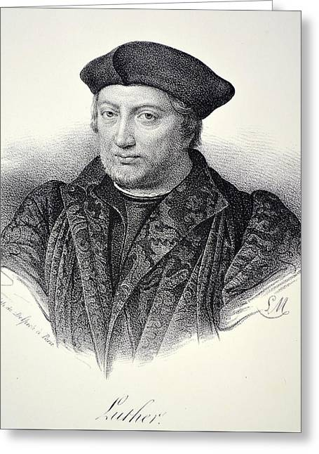 Martin Luther Greeting Card by Unknown