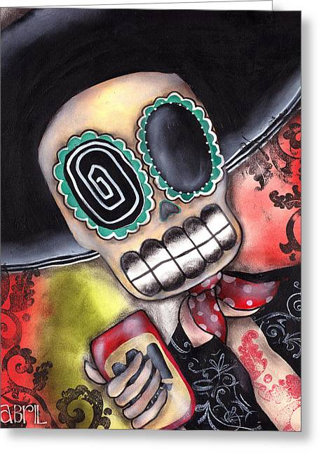Abril Greeting Cards - Martin Mariachi Greeting Card by  Abril Andrade Griffith