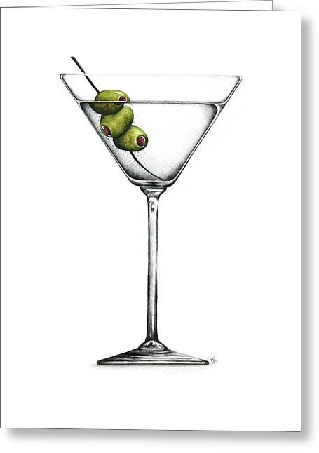 Drink Greeting Cards - Martini Greeting Card by Christina Meeusen