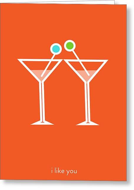 Hallmark Digital Art Greeting Cards - I like you. Lets get together. Greeting Card by Lina Tumarkina