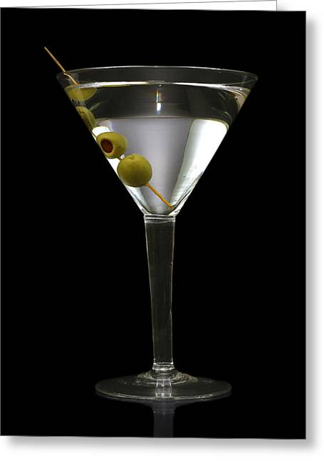 Olive Greeting Cards - Martini in Formal Dress Greeting Card by Kitty Ellis