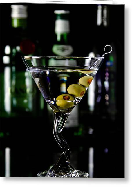Jason Smith Greeting Cards - Martini Greeting Card by Jason Smith
