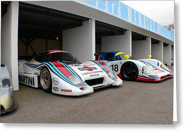 Before The Races Greeting Cards - Martini Le Mans Greeting Card by Robert Phelan