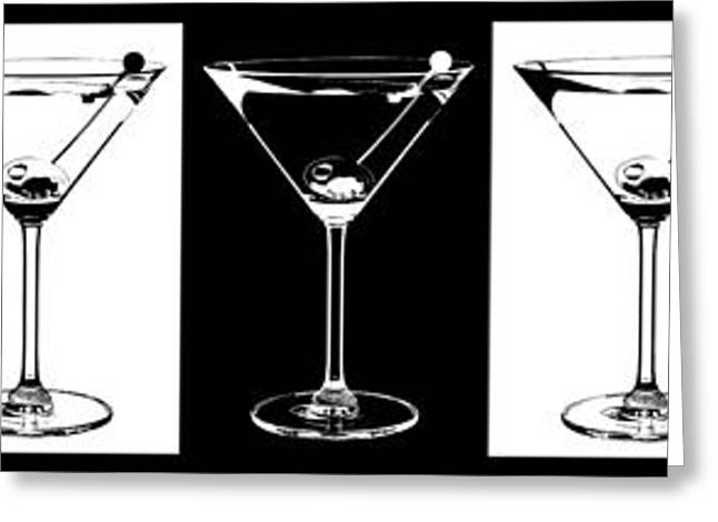 Martini Greeting Cards - Martini Party Greeting Card by Jon Neidert