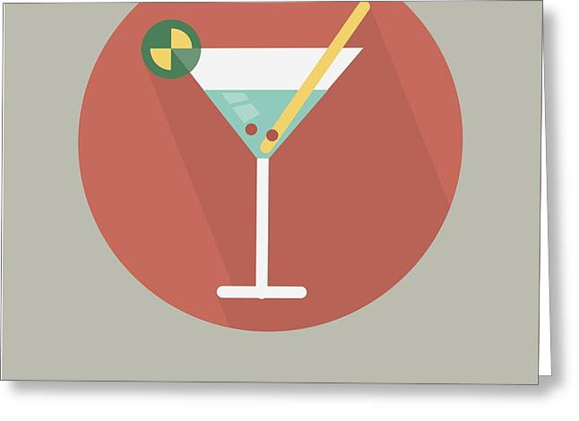 Martini Poster Print - Shaken, Not Stirred Greeting Card by Beautify My Walls