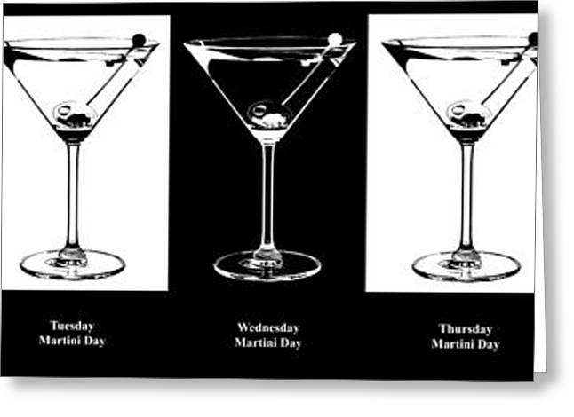 Martini Greeting Cards - Martini Week Greeting Card by Jon Neidert