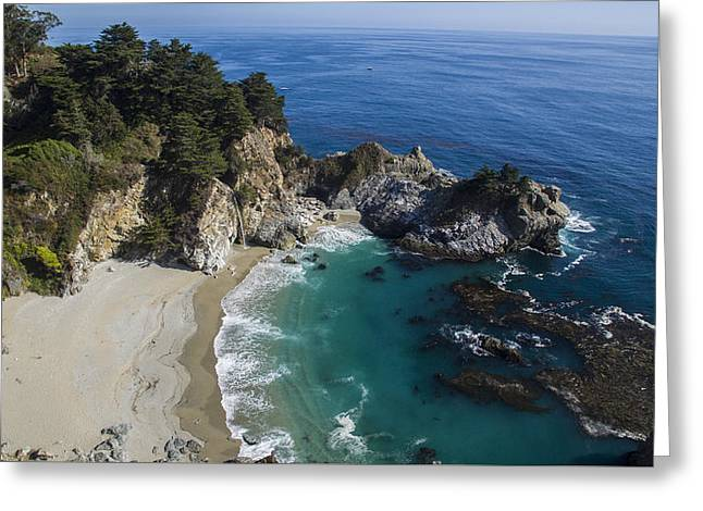 Big Sur Greeting Cards - Marvelous McWay Falls Greeting Card by David Levy