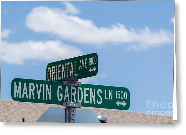 Monopoly Greeting Cards - Marvin Gardens w Oriental Ave. Greeting Card by Phyllis Bradd