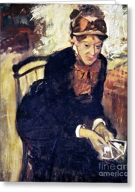 Cassatt Greeting Cards - Mary Cassatt (1845-1926) Greeting Card by Granger