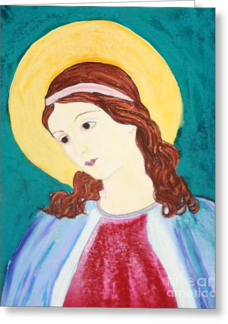 Mary Pastels Greeting Cards - Mary Did You Know Greeting Card by Melinda Etzold