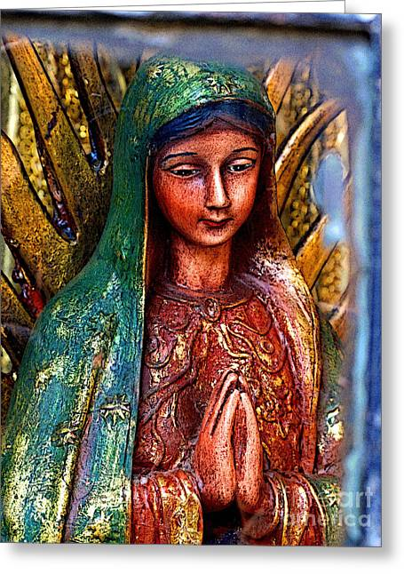 Guadalajara Greeting Cards - Mary in Repose Greeting Card by Olden Mexico