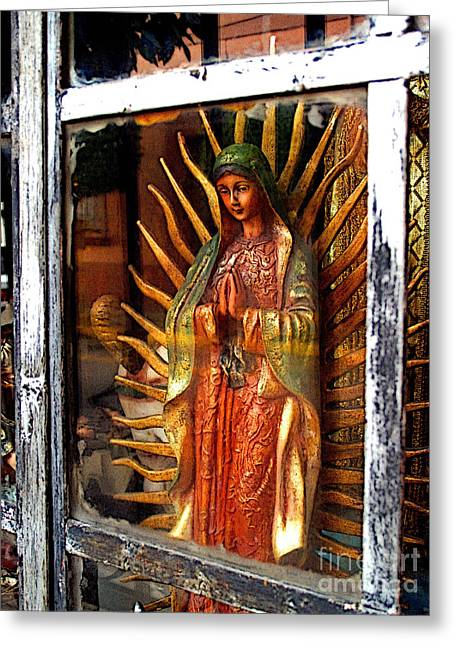 Guadalajara Greeting Cards - Mary in the Sun Greeting Card by Olden Mexico