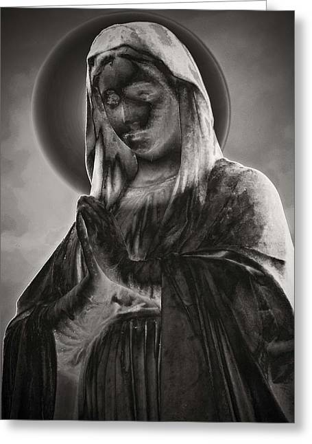 Virgin Mary Greeting Cards - Mary Greeting Card by Kathy Franklin